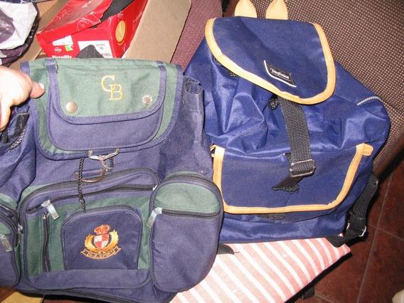 Lote 2 Mochilas Escolares Club Azules Grandes Bolsillos Deta