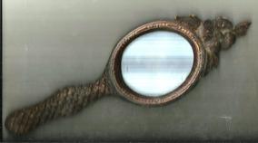 Espelho De Mão Em Madeira Toucador Antigo Sem O Espelho