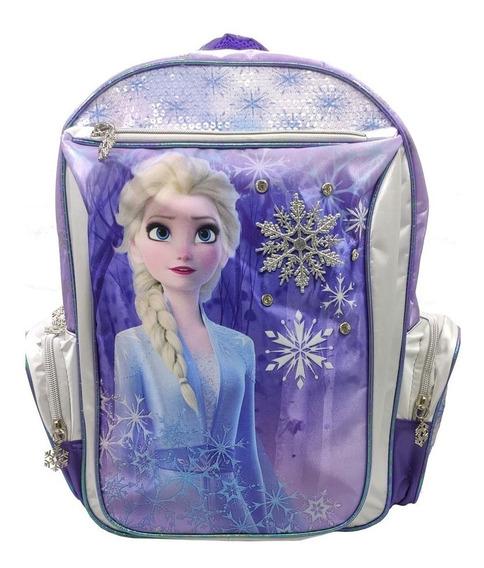 Mochila Frozen Elsa 16p Espalda Original 59314