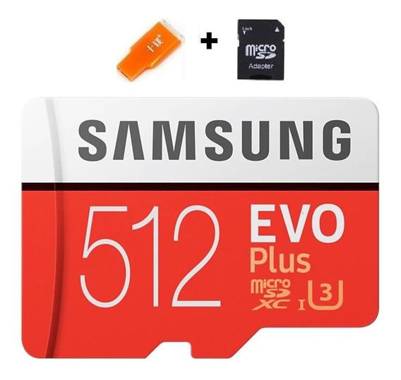 Cartão Samsung Micro Sd Evo Plus 512gb 100mb/s Sdxc U3 4k 4