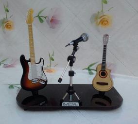 Mini Palco Com Guitarra Strato + Violão Flat Eletrico