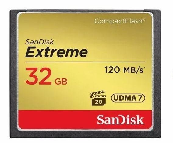 Cartão Memória 32gb Compact Flash Sandisk Cf Extremeoriginal