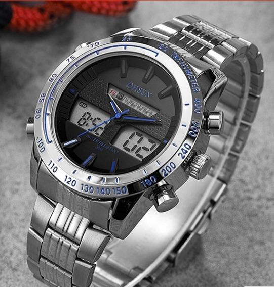 Relógio Masculino De Pulso Ohsen Ad1701 Quartzo Frete Grátis