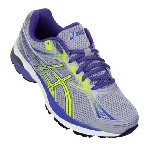 Tenis Asics Feminino Gel Equation 9 A Cinza/roxo/verde
