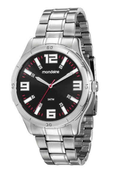 Relógio Mondaine Masculino Analógico Prata 99059g0mvne1