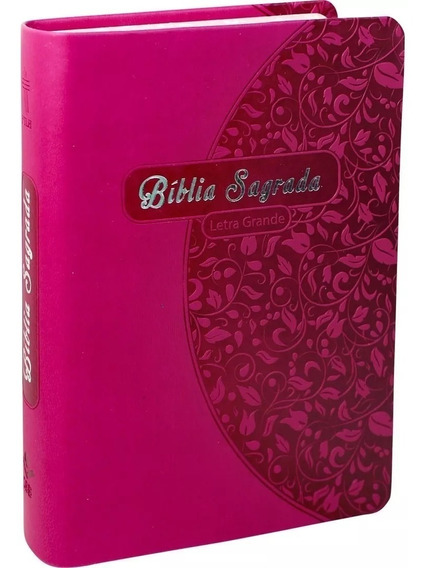 Bíblia Nova Tradução Ntlh Letra Grande Borda Florida Pink