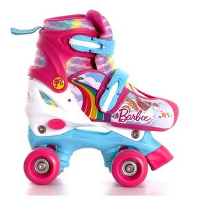 Patines Para Niña Barbie Roller Ajustables T364128 22-25cm