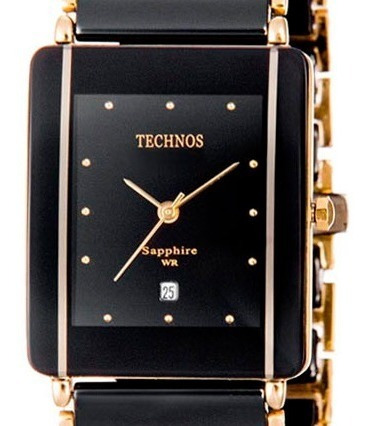 Relógio Feminino Cerâmica Preto Safira Gn10aapai/4p Original
