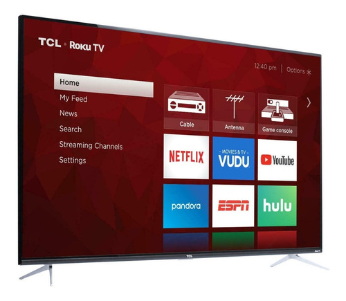 Tcl 55s425-rb 4 Series 4k Uhd Hdr Smart Tv, 55 Inches