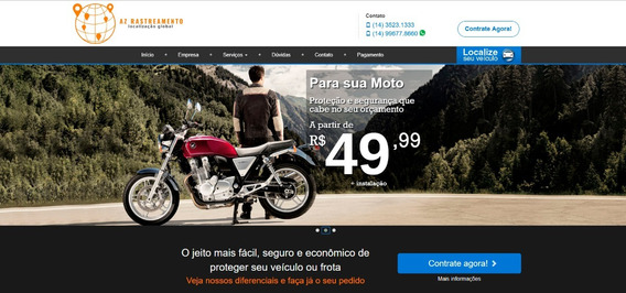 Rastreador Veicular P/ Moto + Contrato Monitoramento Boleto