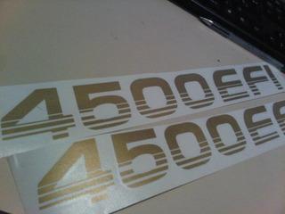 Kit 2 Calcomania 4500efi Toyota Machito Color Dorado O Gris