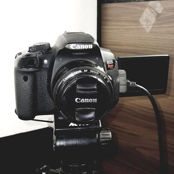 Canon Eos T5i Rebel + 2 Lentes E Acessórios