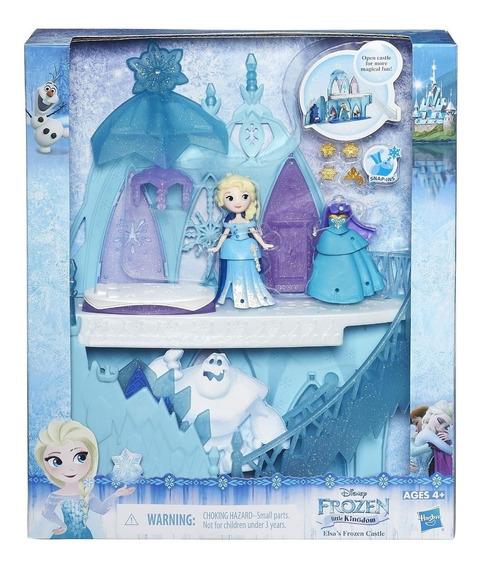 Disney Frozen Mini Princesas Cenário Castelo De Gelo Da Elsa