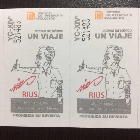 1 Tira De Boletos Del Metro Homenaje A Rius