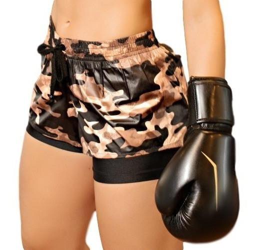 Shorts Boxer Pit Bull Jeans Camuflado 34208 Pitbull Academia
