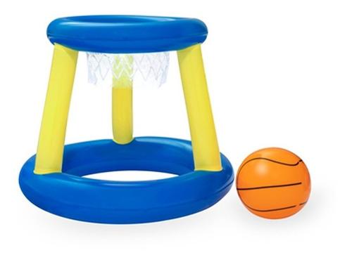 Imagen 1 de 7 de Juego Baloncesto Canasta Inflable Flotante C/ Pelota Bestway