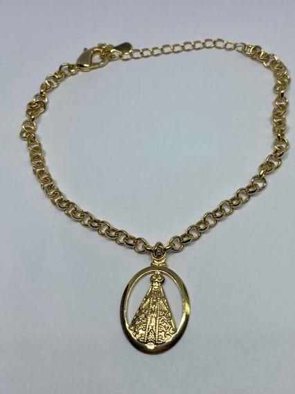Nossa Senhora Pulseira, Banhada Ouro 18k, Com Garantia
