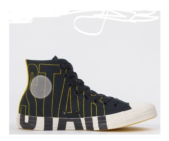 Tênis Converse All Star Preto Amarelo Ct13490001 Original
