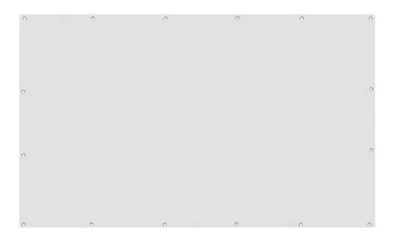 Tela Telão Lona Projetor®projeção Datashow Com Ilhós 100 Pol