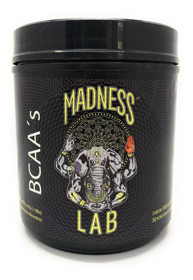 Madness Lab Bcaa´s 510 Gr Polvo