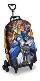 Mochila E Lancheira 3d Liga Da Justiça Batman ( Max Toy )