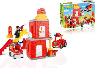 Juego Didactico Tipo Lego Policia O Bomberos