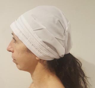 Cofia Blanca Con Tira De Ajuste - Tela Arciel