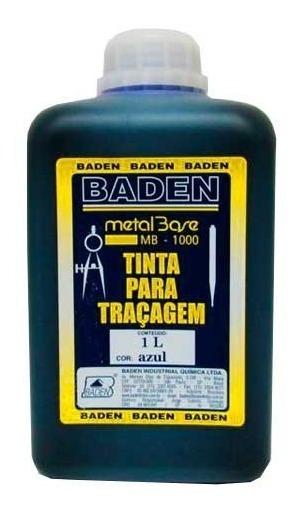 Tinta Para Traçagem Azul 1 Litro - Baden