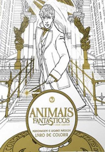 Imagem 1 de 1 de Animais Fantásticos E Onde Habitam - Livro De Colorir