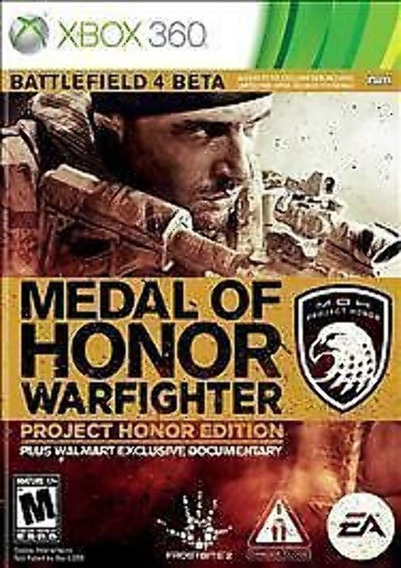 Medal Of Honor Warfigther Project Honor Edition Xbox360 Orig