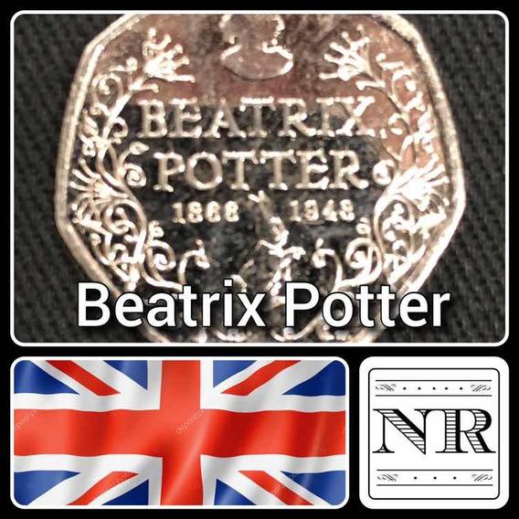 Inglaterra - 50 Pence - Año 2016 - Km # 33 - Beatrix Potter