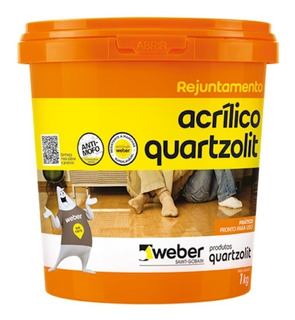Rejunte Acrilico Quartzolit Palha 1kg Anti Fungo
