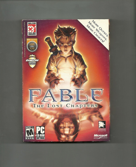 Pc Cd-rom / Fable (the Lost Chapters) Em Inglês