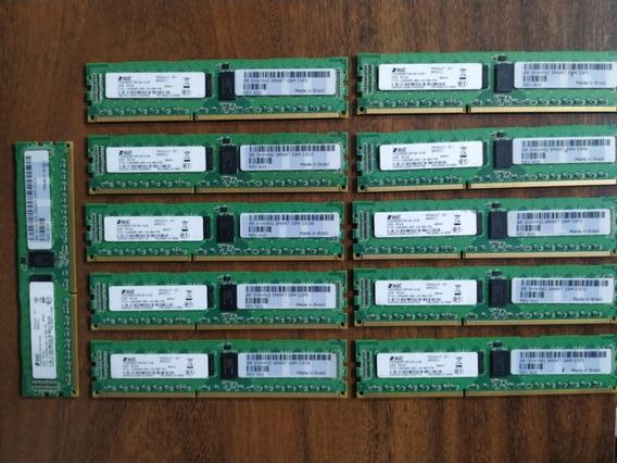 Lote Com 11 Memórias 2gb Ecc Reg Pc3-10600r Ddr3 2rx8