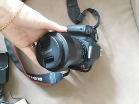 Camera Canon T3i - Semi Nova, Com Lente, Flash, Bolsa...