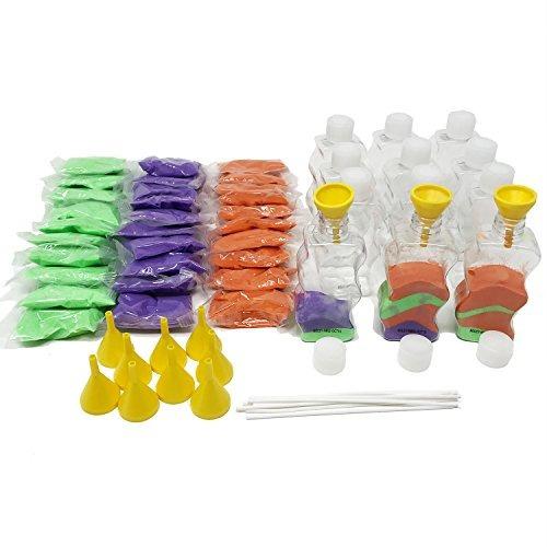 Boley 12kits Kit De Arena De Colores Del Arte 12 Botellas 12