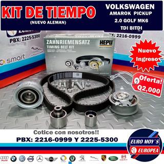 Kit De Tiempo Para Vw Amarok 2.0 Beetle Caddy 1.6-2.0