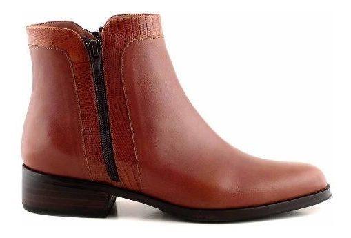 Botineta Bota Cuero Mujer Briganti Zapato Botita - Mcbo24840
