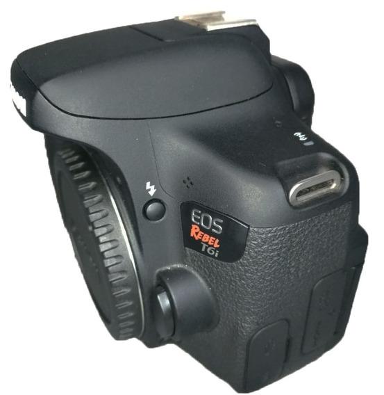 Câmera Canon T6i Corpo Impecável Todos Acessórios