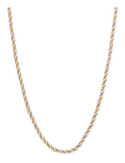 Corrente De Ouro 18k Cordão Baiano Tricolor - F98