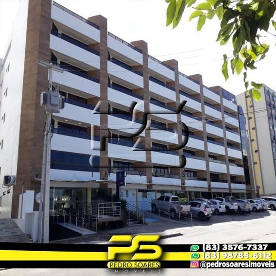 Flat Com 1 Dormitório À Venda, 28 M² Por R$ 290.000 - Cabo Branco - João Pessoa/pb - Fl0077