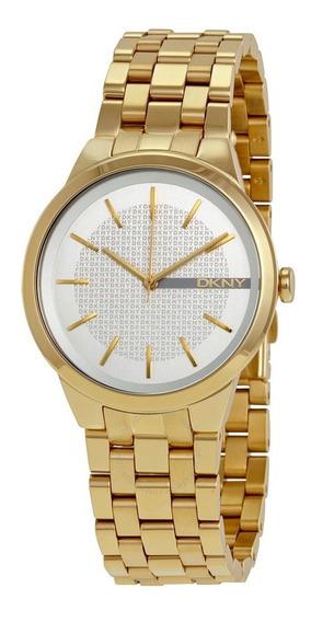 Reloj Dkny Park Slope Ny2382 Dorado Original Nuevo