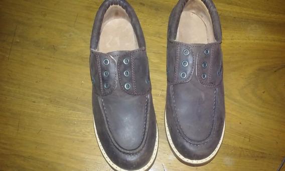 Zapatos De Varon N°32 Nuevos Color Marron Tacos De Goma