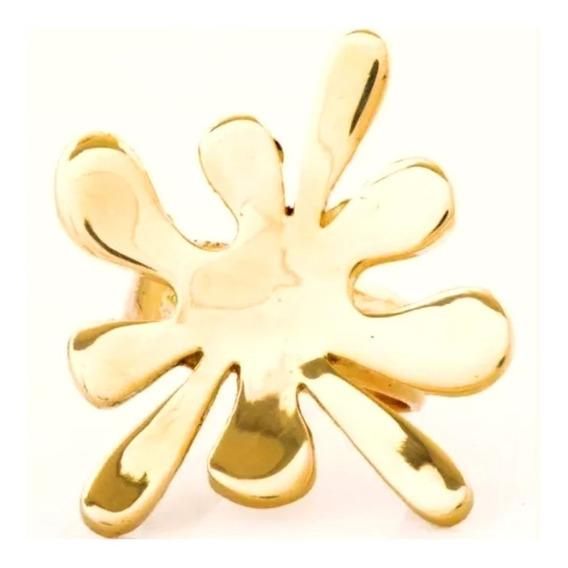 Anel Feminino Ouro 18k Modelo Splash + Porta Joias 0024