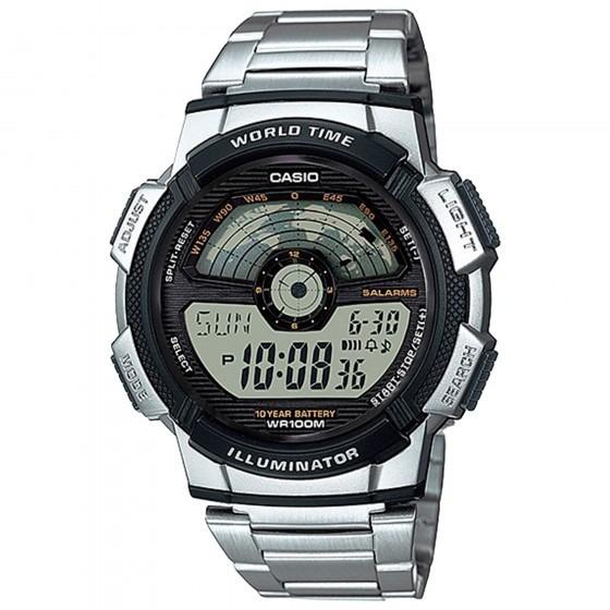 Relógio Casio Ae-1100wd-1avdf Masculino Prata - Refinado