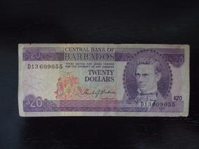Nota Cédula 20 Vinte Twenty Dolar Dollares Barbados (36)