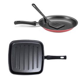 Frigideira Bistequeira Grill + Panquequeira N22 Antiaderente
