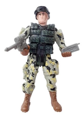 Soldado De Juguete Grande Articulado + Kit Guerra Combate