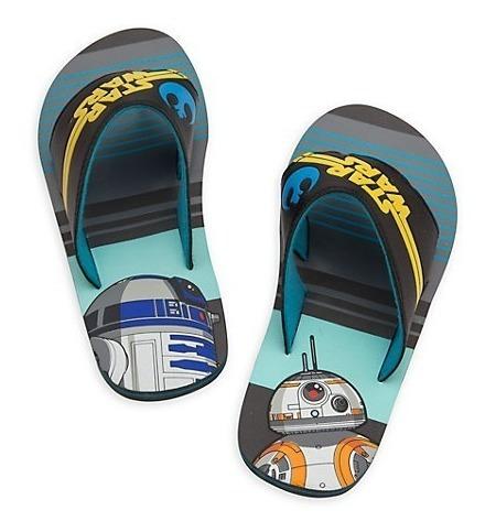 Ojotas Star Wars C/tiras De Goma Negras De Disney Store!