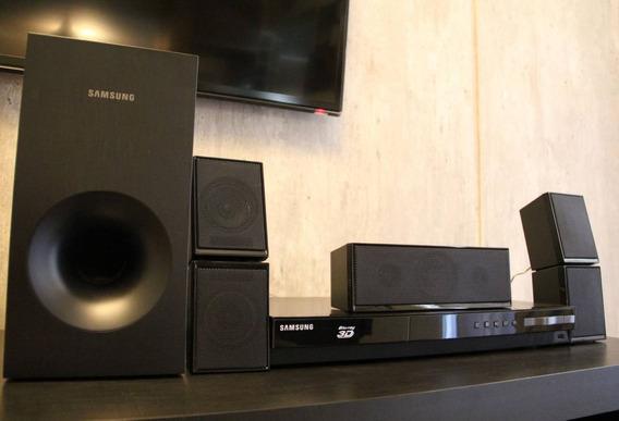 Home Theater Blu-ray 3d Samsung Ht-f4505, Usb, Hdmi, 500w R